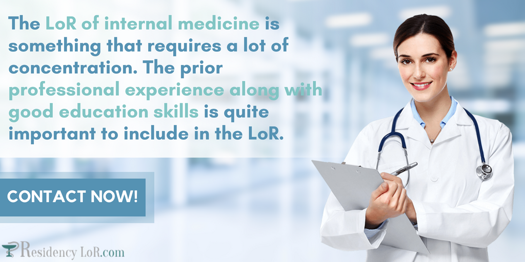 sample letter of recommendation for internal medicine residency