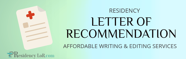 residency letter of recommendation