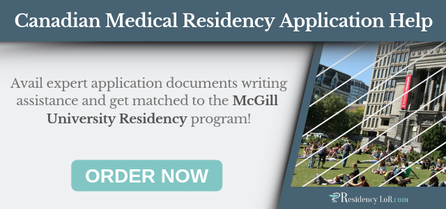 application document writing for medical residency in canada