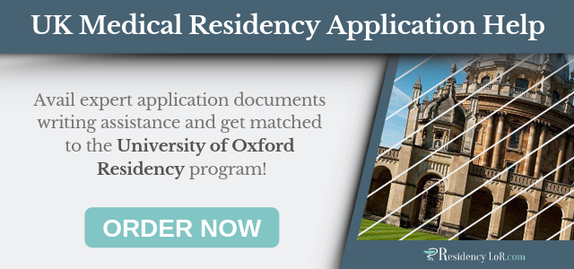 document writing for medical residency in uk