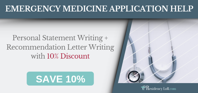 emergency medicine letter of recommendation writing services
