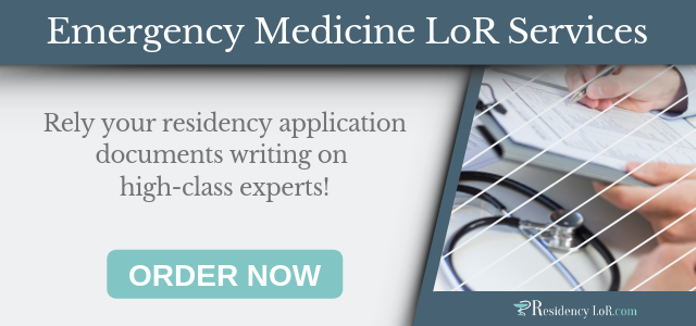 emergency medicine residency letter of recommendation writing services
