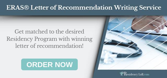 eras letter of recommendation help
