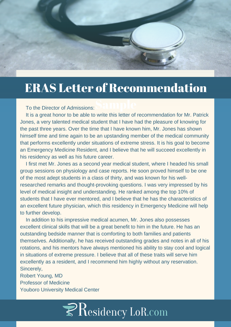 eras letter of recommendation sample