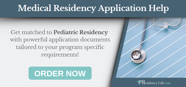 letter of recommendation for pediatric residency writing help