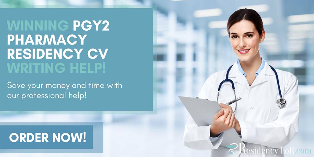 help writing pgy2 pharmacy residency cv