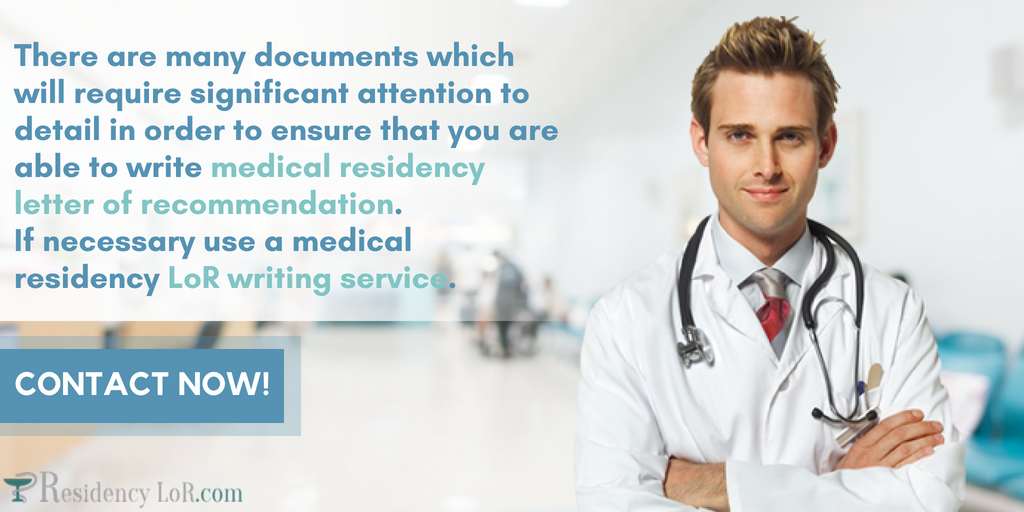 writing letter of recommendation for medical residency