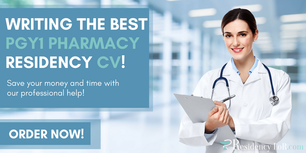 writing pgy1 pharmacy residency cv