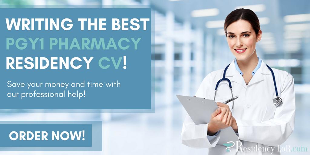 writing pgy1 pharmacy residency cv