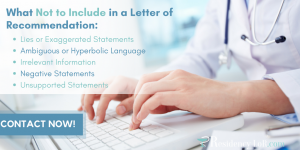 dentist letter of recommendation writing tips
