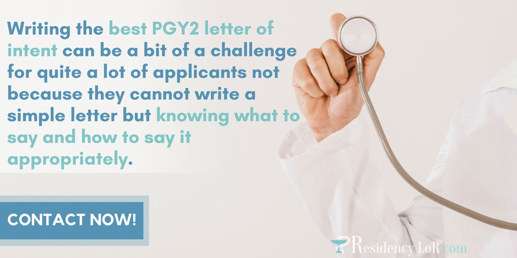 pgy2 early commit letter of intent writing