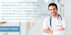 pharmacy recommendation letter writing advice