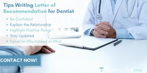 tips writing dental recommendation letter