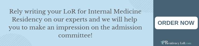 impressive letter of recommendation for internal medicine residency