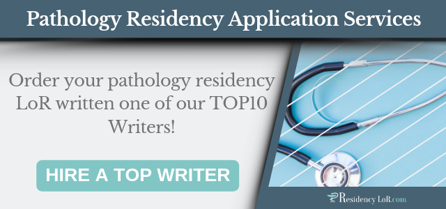 lor for pathology residency writing